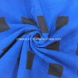 Tela negra de las lanas de la verificación para el sobretodo