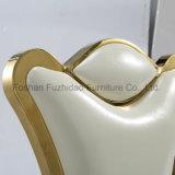 ドバイの一義的なデザイン白革の結婚式の椅子