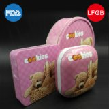 Cartoon Printing Square Tin Box pour Cookies (S001-V25)