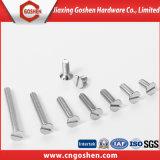 Parafusos de máquina principais escareados Soltted inoxidáveis do aço DIN963