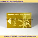 Tarjeta de la puerta del hotel de lujo con oro caliente del sello o la hoja de plata