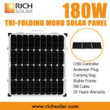 панель солнечных батарей 180W 12V Tri-Складная Mono для домашней пользы