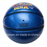 عادة زلقة سطحيّة زرقاء كرة سلّة لامعة مضيئة