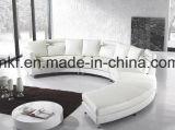 Софа живущий мебели комнаты самомоднейшая с реальной кожаный софой (UL-NSC068)