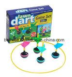 カラーは庭の4colorコードされた投げ矢および1PCSターゲットが付いている小型芝生の投げ矢のゲームセットをカスタマイズした