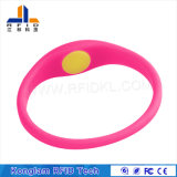 Wristband colorido de alta freqüência simples do silicone de RFID
