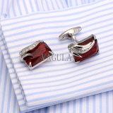 Do Zircon francês de Gemelos do presente de casamento dos botão de punho dos homens de VAGULA ligações de punho de cristal 162