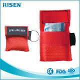 Маска CPR тренировки скорой помощи Aed наборов Keychain маски CPR Multi-Pack