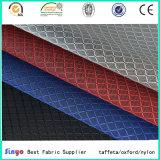 Черный PVC покрыл 2 ткань жаккарда 420d Ripstop диаманта цветов тона для сумок