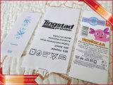 La marca de ropa de raso Impreso cuidado Lavar la etiqueta