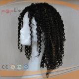 Afro-lockige Schulter-Länge voller Handtied Typ Spitze-Form-Frauen-Perücke (PPG-l-0848)