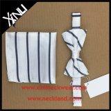 Jogos tecidos seda do laço de curva dos homens de 100% com quadrado Pocket