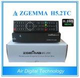 2017 o Hevc/H. o mais quente 265 Zgemma modelo H5.2tc com o receptor satélite combinado dos afinadores triplos de DVB-S2+2*DVB-T2/C