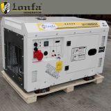 Doppelt-Zylinder des Motor-10kVA198f 3 Phasen-leiser Dieselgenerator