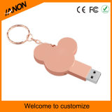 USB 1GB de la alta calidad 2.0 al disco de destello rosado del USB de 32GB Mickey