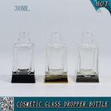 1oz 30ml quadratische freie Glasflasche mit Tropfenzähler