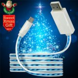Light LED Micro USB Charger Cabo de dados para Samsung Andriod