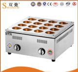 Machine de gâteau d'haricot rouge de gaz d'acier inoxydable de 16 trous