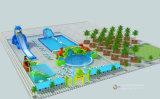 거대한 물 물 공원 팽창식 물 미끄럼 (HL-306)