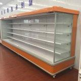 Showcase do refrigerador do indicador de Multideck das prateleiras ajustáveis do supermercado