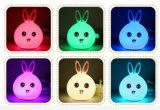 Kind-nettes Silikon-Spielzeug-Nachtlieblingslicht, Noten-Fühler-Nachtlicht der Atmosphären-LED, Minitier USB-nachladbare weiche Nacht Lignt