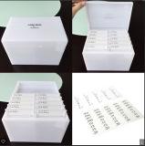 Rectángulo de acrílico blanco de la pestaña del nuevo del diseño organizador de la pestaña