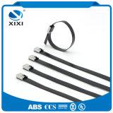 La courroie enduite en plastique en métal attache le câble de garantie d'acier inoxydable