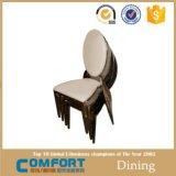 De lujo que cena la silla Diseño tela blanca banquetes metal