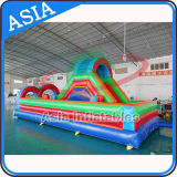 Curso de obstáculo inflável gigante para miúdos, obstáculo de flutuação inflável