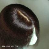 Peluca superior de seda china recta sedosa del pelo humano del pelo de la Virgen