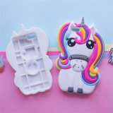 Heiße nette Einhorn-Pferden-Tierkarikatur-weicher Silikon-Handy-Fall-Deckel des Regenbogen-3D für iPhone 7 7plus (XSDW-102)