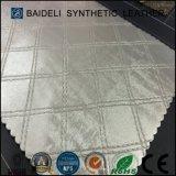 Couro artificial do PVC da superfície metálica para o sofá/mobília/Upholstery dos sacos