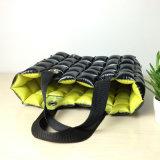 Gelbe schwarze Farbe Belüftung-aufblasbare Luftblasen-Strand-Kissen-Einkaufstasche
