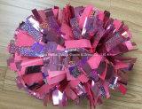 Colore rosa metallico POM Poms, POM Cheerleading Poms