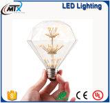 MTX金G125 4W LEDエジソンの球根愛フィラメントの淡い琥珀色のレトロのセービングランプ型LEDのフィラメントの球根の装飾の球根のLEDvintageランプ