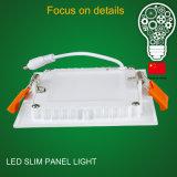 Intense voyant en aluminium ultra mince du watt DEL du boîtier 9 de luminosité