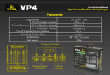 Vivismoke 2016 10440/18650/26650의 Li 이온 건전지를 위한 최신 판매 Xtar Vp4 4 만 LCD 충전기