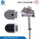 luz de rua ao ar livre solar da iluminação de painel do diodo emissor de luz 15W-80W com painel solar