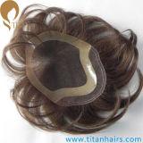 Toupee suíço do laço do cabelo indiano clássico de Remy do estilo