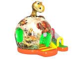 Dinosaurier-Entwurfs-aufblasbares Prahler-Plättchen-Schloss für Kinder