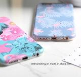 Мягкое iPhone аргументы за телефона фламингоа шаржа TPU IMD