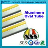 Profil en aluminium de tube ovale rond en aluminium de garde-robe personnalisé