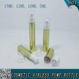 empaquetage privé d'air cosmétique en plastique de pompe d'or de 5ml 10ml 12ml 15ml