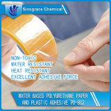 Papier de polyuréthane et adhésif à base d'eau de plastique (PU-802)
