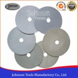 tipo branco discos de lustro flexíveis de 75-180mm do diamante molhado para a pedra