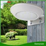 Lumière actionnée solaire sans fil extérieure de détecteur de mouvement de radar à micro-ondes de lampe de l'éclairage 16 DEL pour le patio, paquet, yard, jardin, mur extérieur