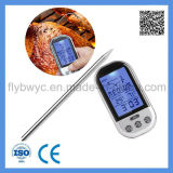 Termómetro del Bbq de la radio de Digitaces para el termómetro de horno de la cocina de la carne del alimento con 2 puntas de prueba