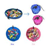 El Portable barato vendedor caliente 2016 embroma el bolso infantil del almacenaje del juguete del bolso del organizador de los juguetes de la estera del juego del bebé de los niños
