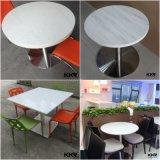 Tabella pranzante superiore del ristorante del marmo di pietra artificiale della mobilia