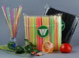 Jumbo Plastic Flexibel het Drinken Stro 6*210mm